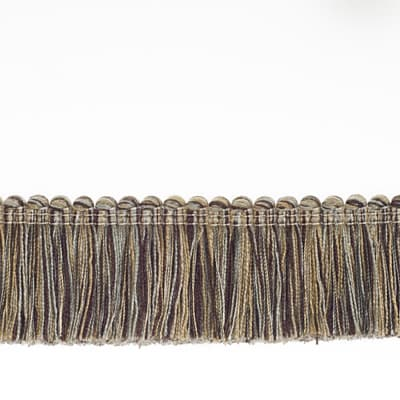 "Fabricut 1.5"" Escargot Brush Fringe Pewter"