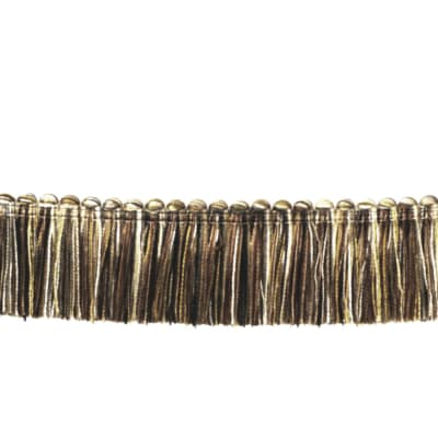 "Fabricut 1.5"" Escargot Brush Fringe Mocha"
