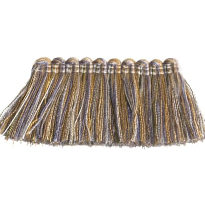 "Fabricut 1.5"" Escargot Brush Fringe Tempest"