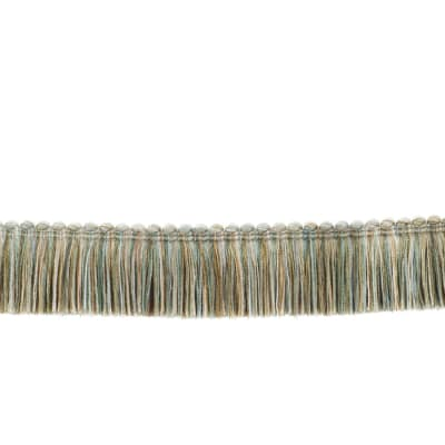 "Fabricut 1.5"" Escargot Brush Fringe Shoreline"