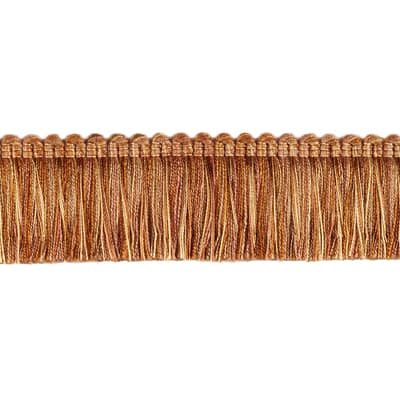 "Fabricut 1.5"" Escargot Brush Fringe Copper"
