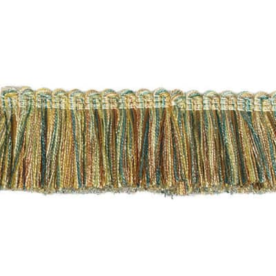 "Fabricut 1.5"" Escargot Brush Fringe Island"