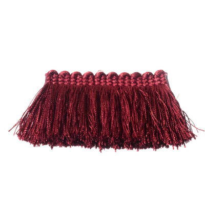"Fabricut 2"" Everclear Brush Fringe Berry"