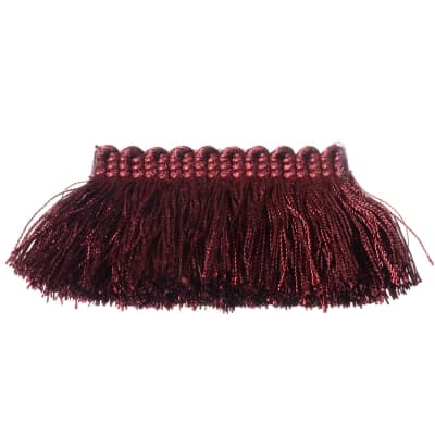"Fabricut 2"" Everclear Brush Fringe Vino"