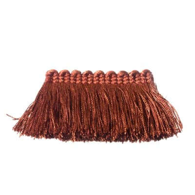 "Fabricut 2"" Everclear Brush Fringe Paprika"