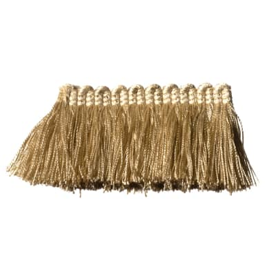 "Fabricut 2"" Everclear Brush Fringe Beige"