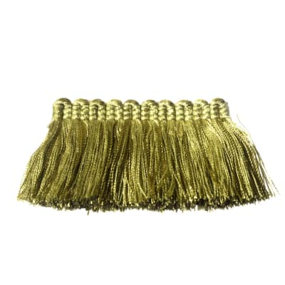 "Fabricut 2"" Everclear Brush Fringe Key Lime"