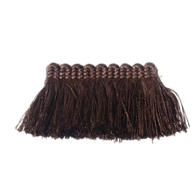 "Fabricut 2"" Everclear Brush Fringe Espresso"
