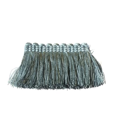 "Fabricut 2"" Everclear Brush Fringe Haze"