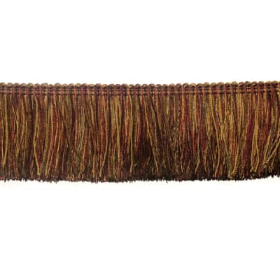 "Fabricut 2.5"" Festoon Brush Fringe Brick"