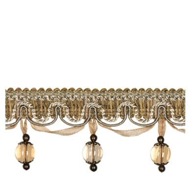 "Fabricut 2.25"" Jewelry Tassel Fringe Natural"