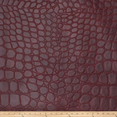 Fabricut Katoomba Faux Leather Burgundy