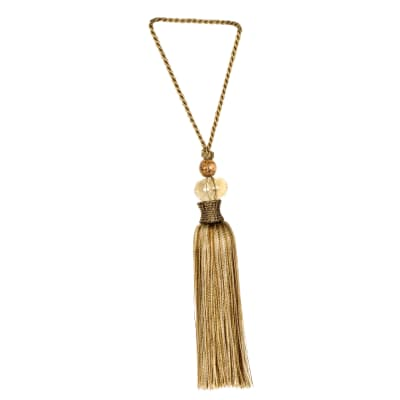 "Fabricut 10"" Kwait Key Tassel Gold"