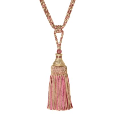 "Fabricut 31.5"" Lacey Single Tassel Tieback Teaberry"