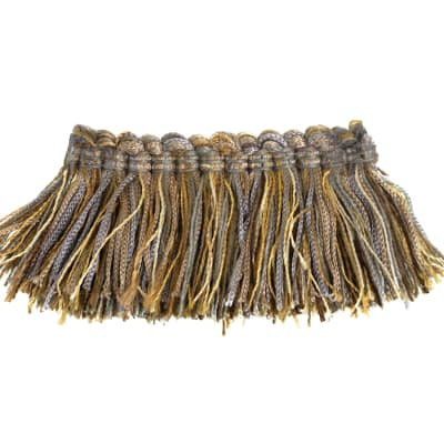 "Fabricut 2"" Luzianne Brush Fringe Metallic"