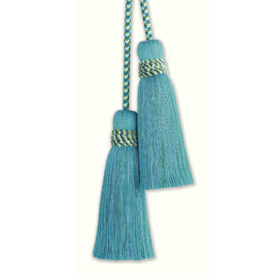 Fabricut Marrakech Double Tassel Tieback Spa Blue