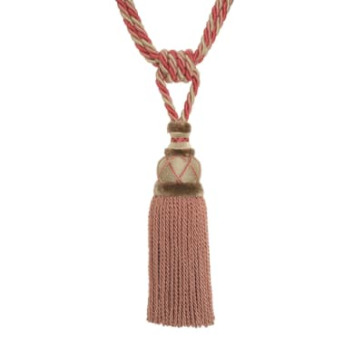 "Fabricut 32.5"" Misha Single Tassel Tieback Rose"