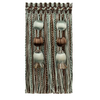 Fabricut Morning Glory Fringe Chocolate Mint