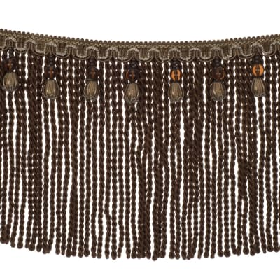 "Fabricut 9"" Mountain Resort Bullion Fringe Mocha"