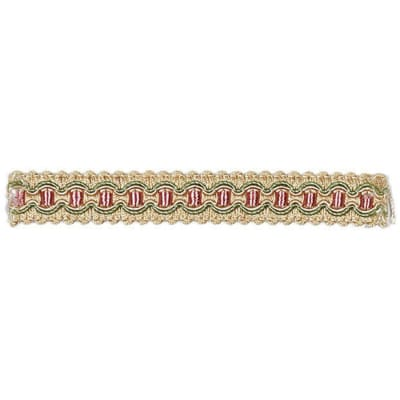 "Fabricut  3/4"" Neeve Trim Strawberry"