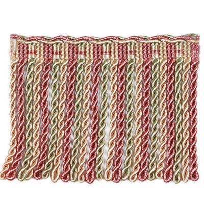 "Fabricut 4"" Nessa Bullion Fringe Strawberry"