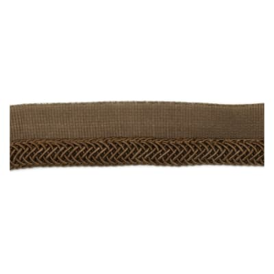 "Fabricut 1"" Oolong Cord Trim Coffee"
