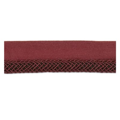 "Fabricut 1"" Oolong Cord Trim Wine"