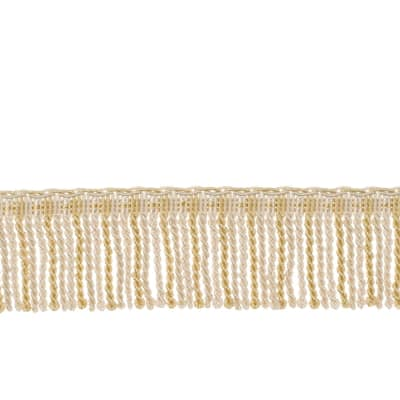 "Fabricut 2.5"" Porch Swing Bullion Fringe Alabaster"