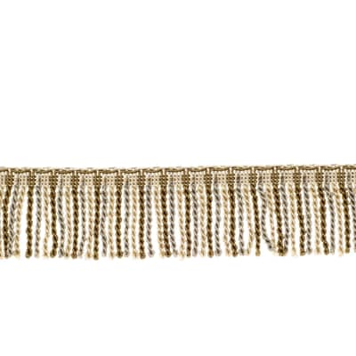 "Fabricut 2.5"" Porch Swing Bullion Fringe Natural"