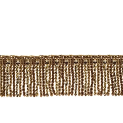 "Fabricut 2.5"" Porch Swing Bullion Fringe Mocha"