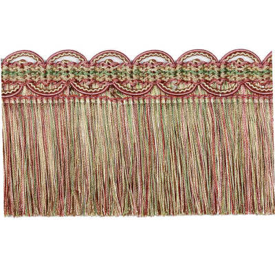 "Fabricut 3.25"" Randee Eyelash Fringe Strawberry"
