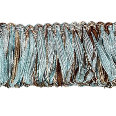 "Fabricut 2"" Rejuvenation Loop Fringe Aquatic"