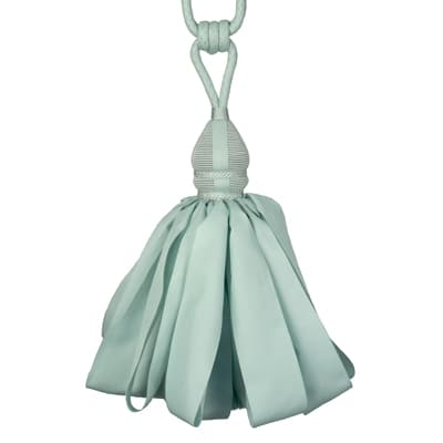 Fabricut Ribbondance Single Tassel Tieback Jade