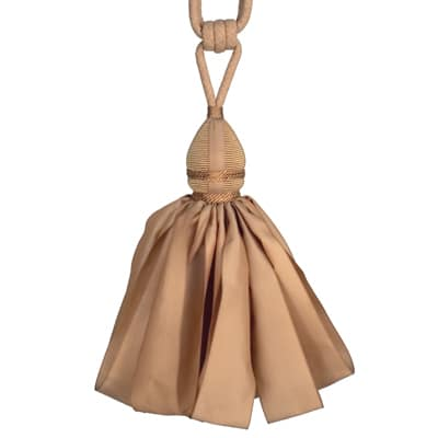 Fabricut Ribbondance Single Tassel Tieback Camel