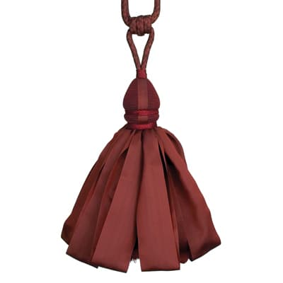 Fabricut Ribbondance Single Tassel Tieback Wine