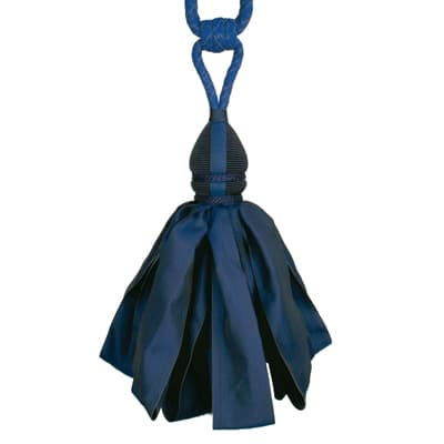 Fabricut Ribbondance Single Tassel Tieback Navy