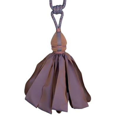 Fabricut Ribbondance Single Tassel Tieback Dusk
