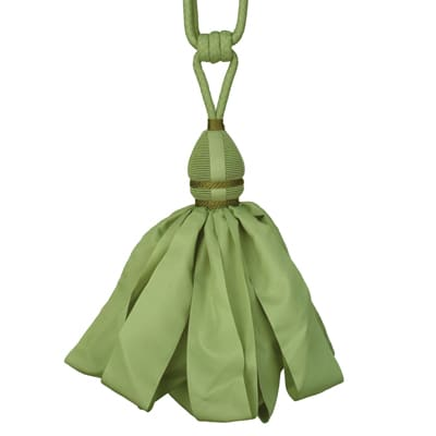 Fabricut Ribbondance Single Tassel Tieback Opaline