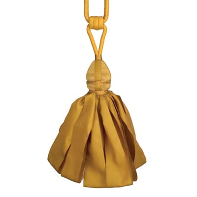 Fabricut Ribbondance Single Tassel Tieback Gold