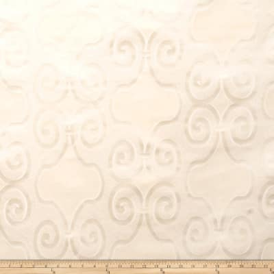 Fabricut Ross Scroll Faux Silk Ivory
