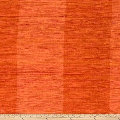 Fabricut Shalini Stripe Silk Orange Crush