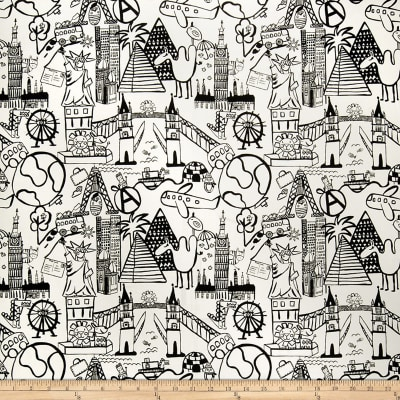 Fabricut Sightseeing Toile Graphite