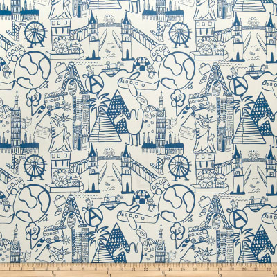 Fabricut Sightseeing Toile Blue