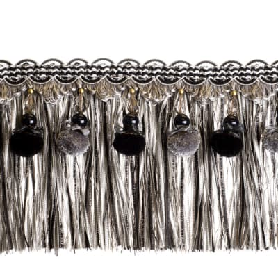 "Fabricut 6.25"" Sinead Bullion Fringe Black Pepper"