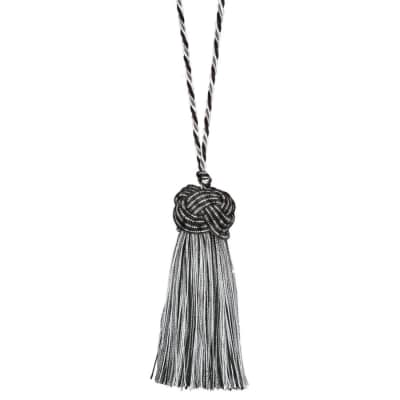 "Fabricut 8"" Tantalize Cushion Tassel Black Pepper"