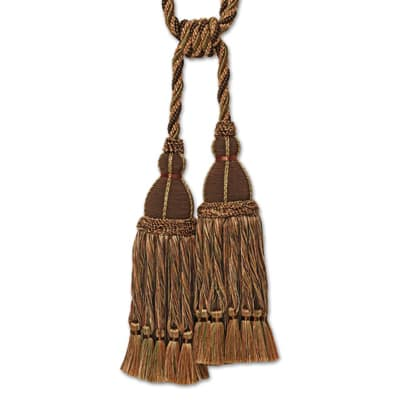 Fabricut Trumbell Double Tassel Tieback Molasses