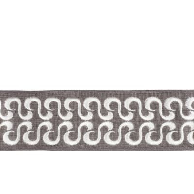 "Fabricut 2.75"" Waves Trim Pewter"