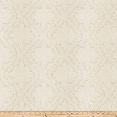 Fabricut Yasa Lattice Linen Blend Toffee