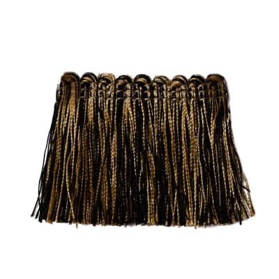 "Trend 2.25"" 01743 Brush Fringe Black Gold"