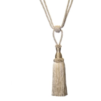 "Trend 25"" 01749 Single Tassel Tieback Pearl"